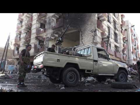 Two guards killed in IS-claimed car bombing in Yemen