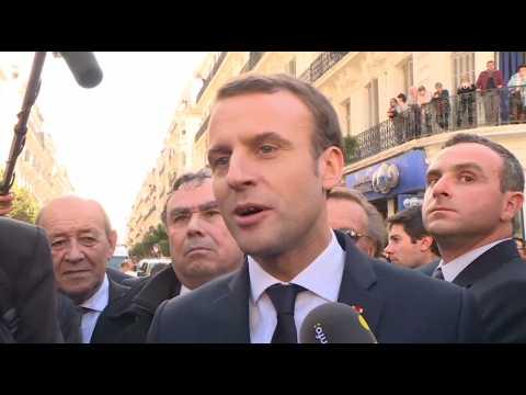 """Macron : """"Johnny Hallyday était un artiste que j'aimais beaucoup et que j'allais voir"""""""
