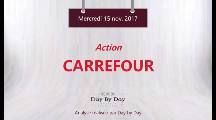 Illustration pour la vidéo Action Carrefour : sortie baissière du canal - Flash analyse IG 15.11.2017