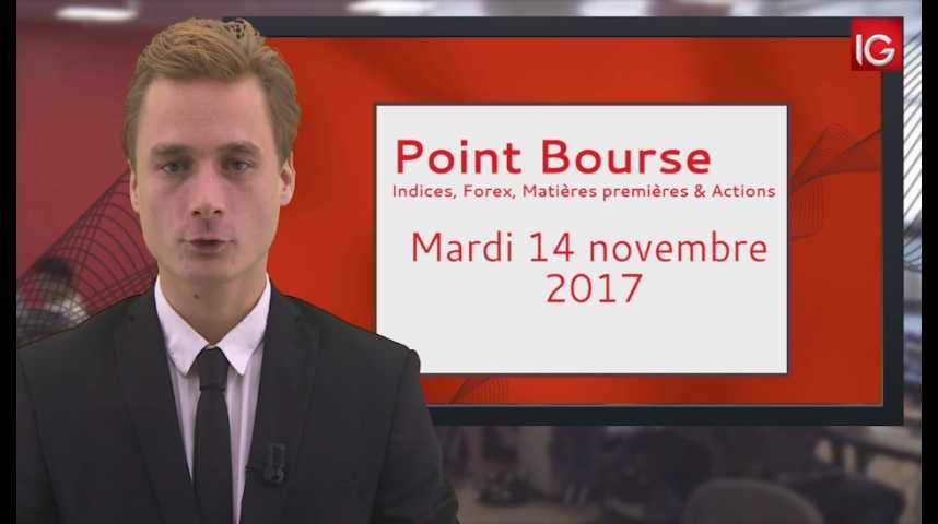 Illustration pour la vidéo Point Bourse IG du 14.11.2017