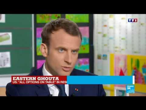 "Emmanuel Macron: ""Last week, chemical weapons were used by the regime of Bashar al-Assad"""