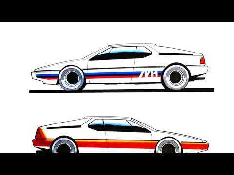 40 years of BMW M1 - Design Sketches