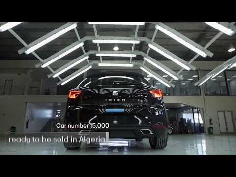 The Seat Ibiza number 15,000, ready to roll in Algeria
