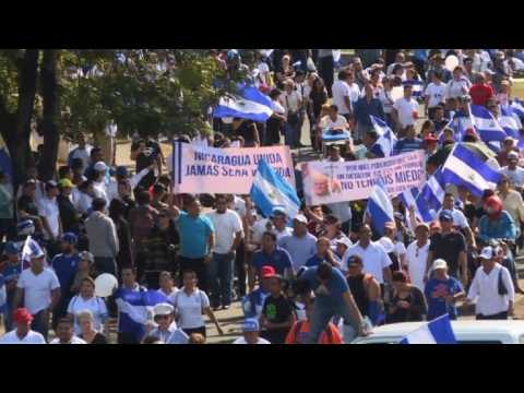 Hundreds protest in Nicaragua against Ortega's government