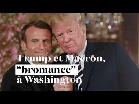 """Trump et Macron : """"bromance"""" à Washington"""