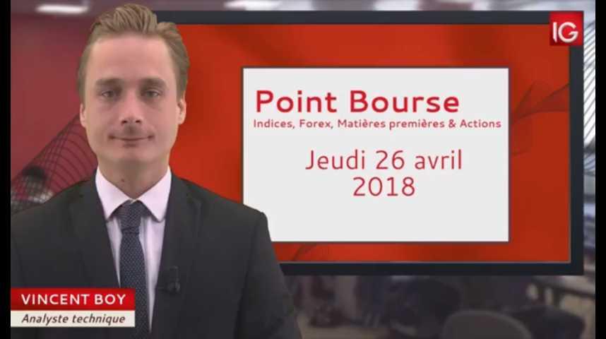 Illustration pour la vidéo Point Bourse du jeudi 26 avril 2018