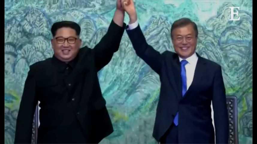 Illustration pour la vidéo Dénucléarisation, paix…  Les annonces des deux Corées