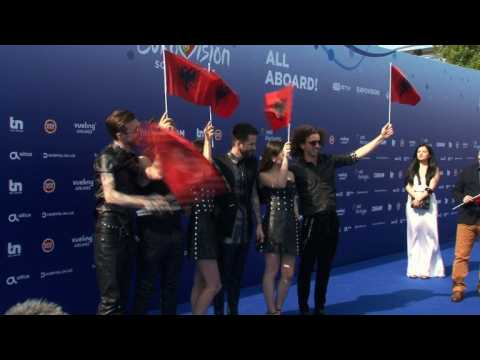 Eurovision singers attend Blue Carpet ahead of competition