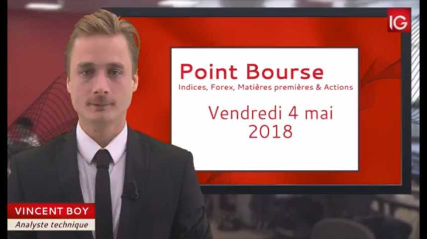 Illustration pour la vidéo Point Bourse du vendredi 4 mai 2018