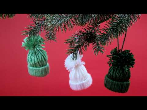 How to Make Knit Hat Ornaments