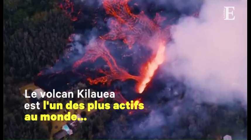 Illustration pour la vidéo Hawaï : les images impressionnantes du volcan Kilauea en éruption