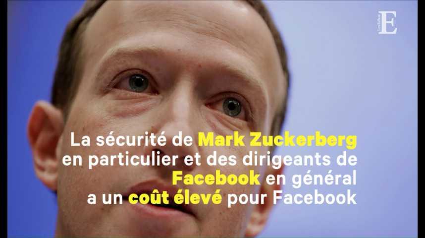 Illustration pour la vidéo Facebook a dépensé 7,3 millions de dollars pour la sécurité de Mark Zuckerberg en 2017