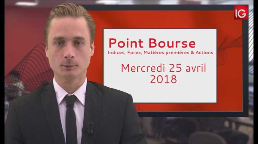 Illustration pour la vidéo Point Bourse IG du 25.04.2018