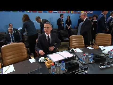 Top of meeting between NATO foreign ministers in Brussels