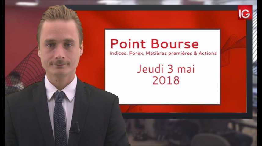 Illustration pour la vidéo Point Bourse IG du Jeudi 3 mai 2018