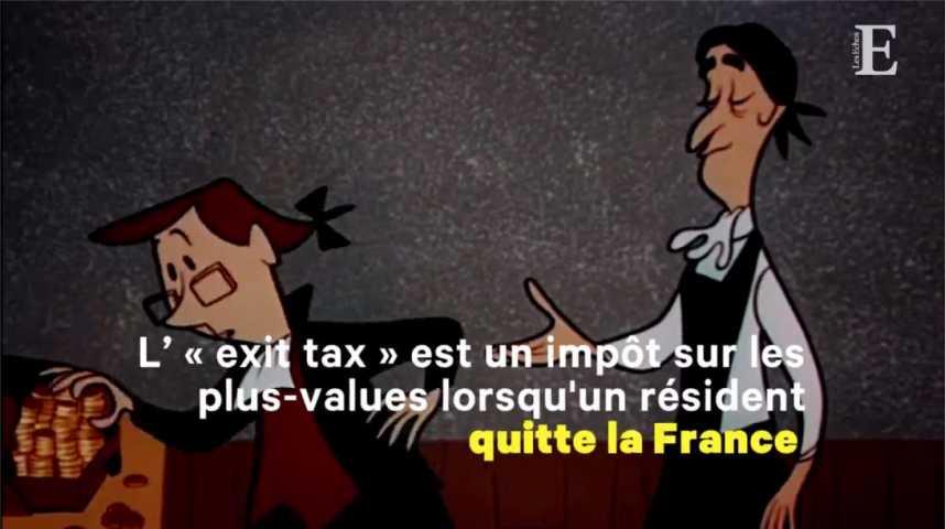 Illustration pour la vidéo  Qu'est-ce que l'«exit tax»?