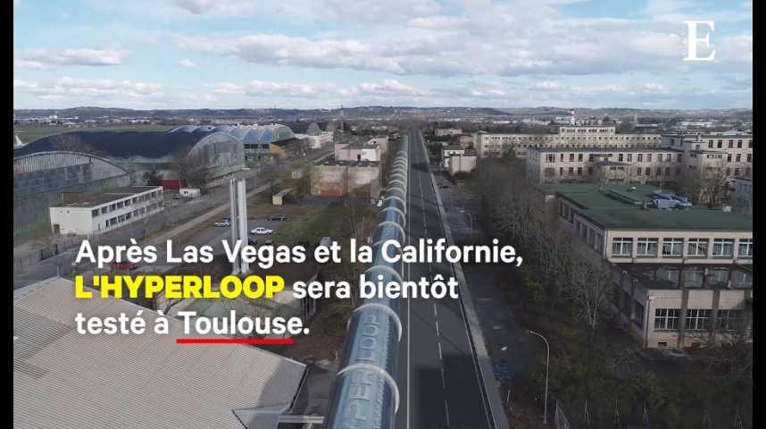 Illustration pour la vidéo Hyperloop : la piste d'essais de Toulouse prend forme