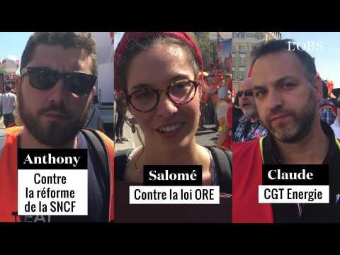 """""""Macron, écoute la rue !"""" : Salomé, Claude et Anthony ont chacun un message contre les réformes"""
