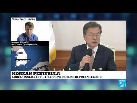 North Korea Talks: Koreas install a first telephone hotline between leaders