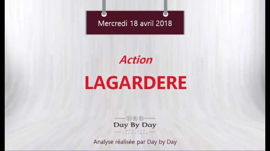 Illustration pour la vidéo Action Lagardère : la tendance reste baissière - Flash analyse IG 18.04.18