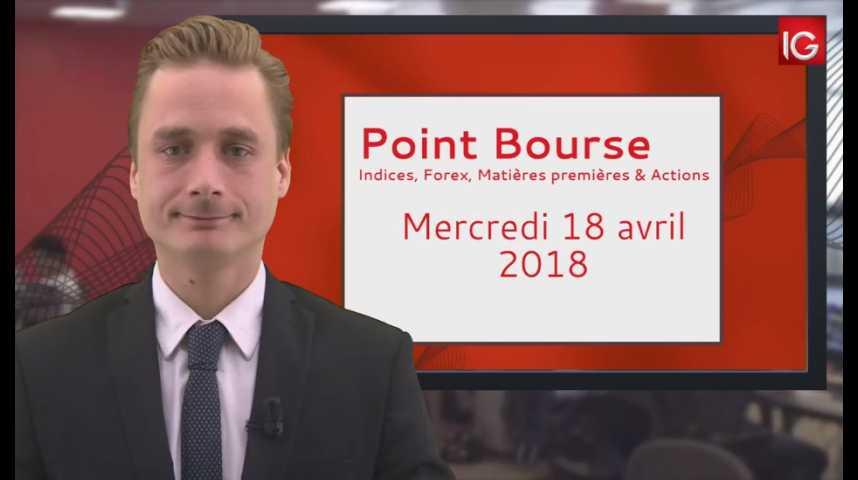 Illustration pour la vidéo Point Bourse IG du 18 04 2018