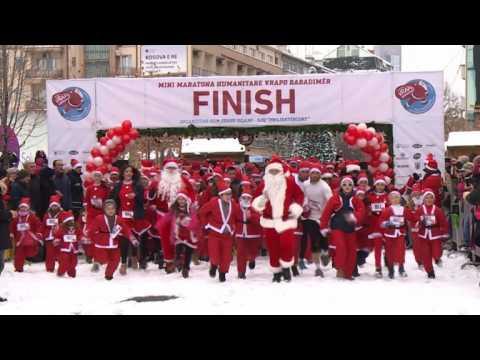 In Kosovo running Santas raise money for needy in mini-marathon