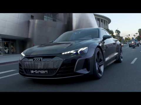 The first drive of the Audi e-tron-GT concept