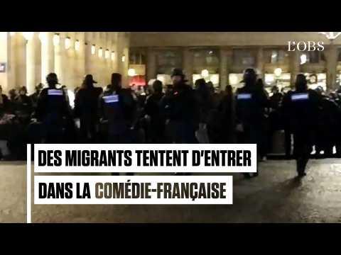 400 migrants tentent d'entrer dans la Comédie-Française