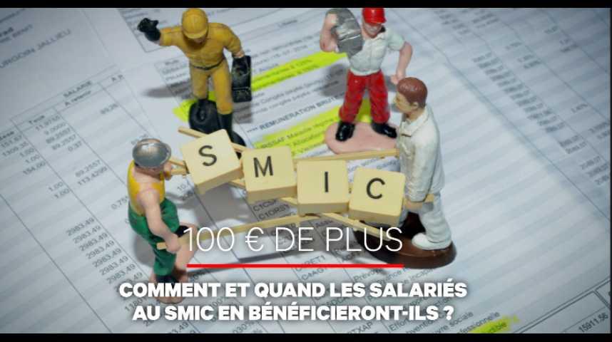 Illustration pour la vidéo Salariés au SMIC : le casse-tête des 100 euros de plus