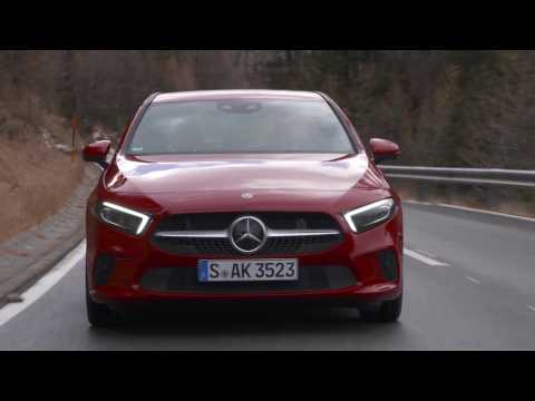 Mercedes-Benz A 220 4MATIC Driving Video in red - Driving Event Hochgurgl 2018