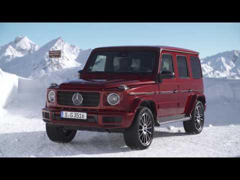 Mercedes-Benz G 350d 4MATIC Design in red - Driving Event Hochgurgl 2018