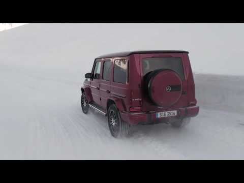 Mercedes-Benz G 350d 4MATIC Driving Video in red - Driving Event Hochgurgl 2018