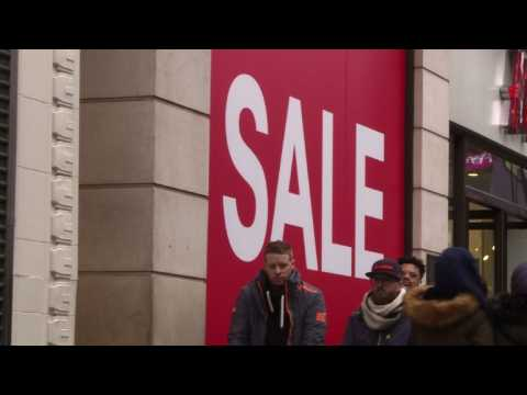 Bargain hunters hit London streets for Boxing Day sales