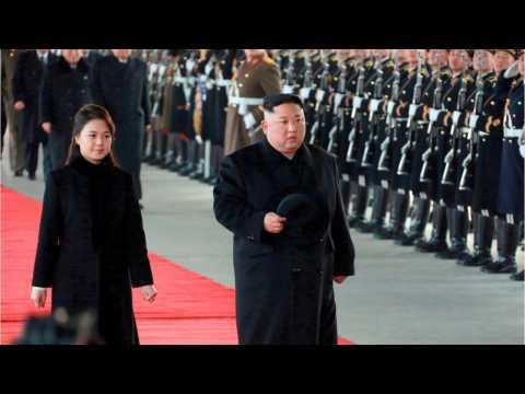 Kim Jong Un's Motorcade Arrives In China