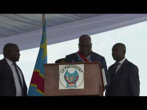 New DR Congo president feels unwell during inauguration