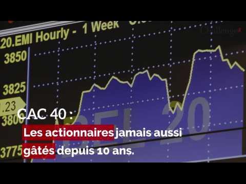 CAC 40, les actionnaires jamais aussi gâtés depuis dix ans