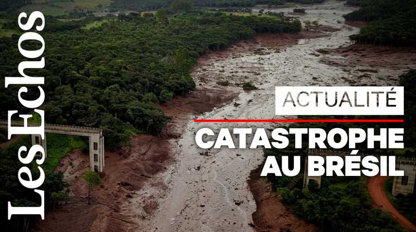 Illustration pour la vidéo Brésil : la rupture du barrage fait au moins 58 morts
