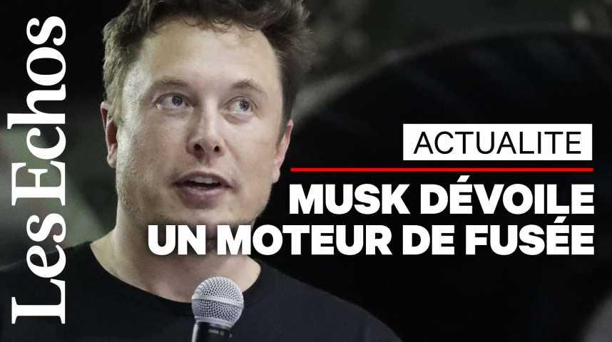 Illustration pour la vidéo Elon Musk dévoile les images du moteur de sa prochaine fusée