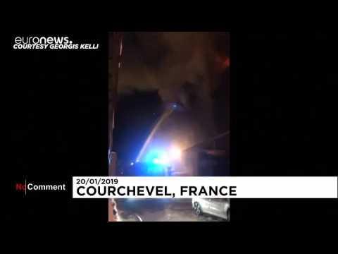 France : grave incendie à Courchevel