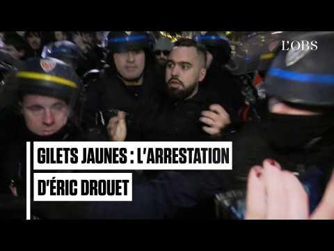 """""""Gilets jaunes"""" : l'arrestation musclée d'Eric Drouet à Paris"""