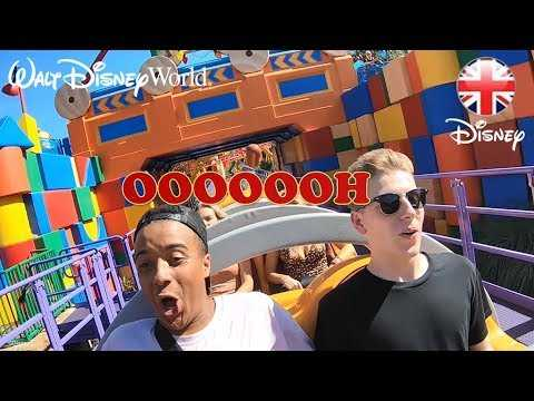 WALT DISNEY WORLD | Ride Slinky Dog Dash at Disney's Hollywood Studios | Official Disney UK