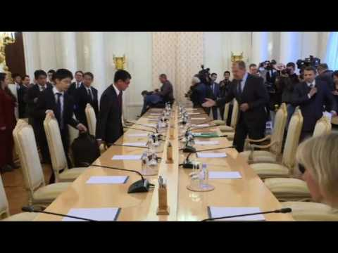 Lavrov meets Kono amid tensions over disputed Kuril islands
