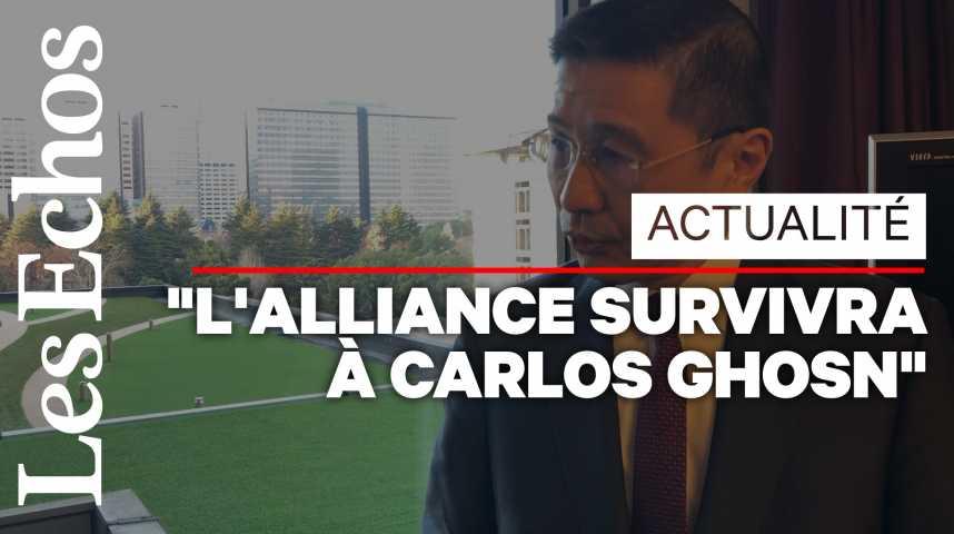 Illustration pour la vidéo « L'alliance Renault-Nissan survivra à Carlos Ghosn », assure le PDG de Nissan, Hiroto Saikawa