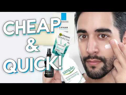 QUICK, CHEAP + EFFORTLESS Skincare Routine For Men 2019  James Welsh