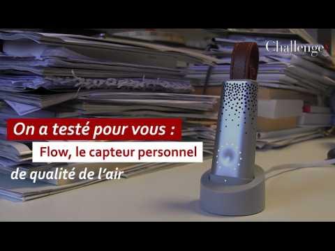 On a testé pour vous Flow, le capteur personnel de qualité de l'air