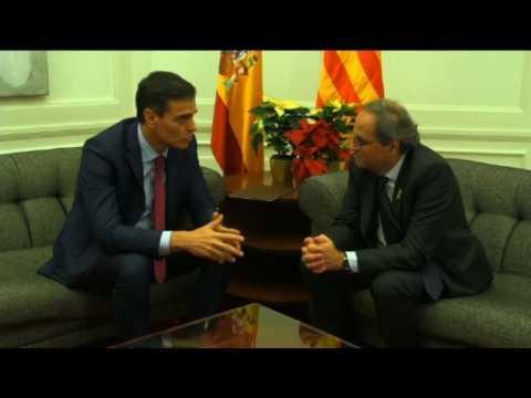 Spanish Prime Minister Sanchez meets Catalan leader Torra