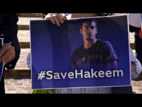 Australian demo urges Thailand to free refugee footballer