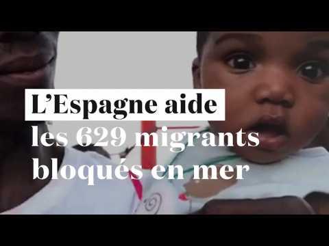 L'Espagne tend la main aux 629 migrants bloqués à bord de l'Aquarius