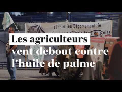 Huile de palme : dépôts de carburants et raffineries Total bloquées par les agriculteurs