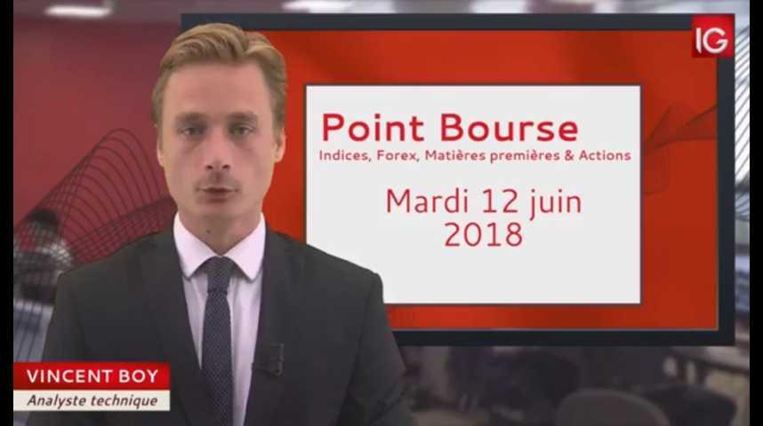 Illustration pour la vidéo Point Bourse du mardi 12 juin 2018